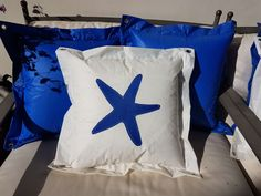 Decorative Sail Pillow, Sailcloth Star Pillow, Maritime Terrace Cushion, Personalized Cushion, Nautical Star, Solid Waste, Personalised Cushions, Sailing Outfit, Beautiful Gifts, Handmade Clothes, Blue Bags, Nautical Pillows, Dry Well