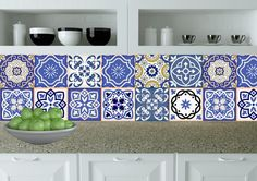 Set of 24 traditional spanish Tiles Decals bathroom by AlegriaM