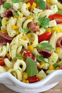 Pesto, Pepper & Sopressato Pasta Salad