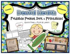 Dental Health Foldable Pocket Sort and printables are a quick addition to your center activities to help you teach students about dental health and nutrition. Assemble the Pocket Sort once and use it again and again. The printables can also be used for morning work, homework, and as an assessment to see what students have learned about making healthy choices for their teeth.