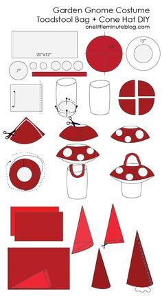 Gnome Costume DIY Hat +Bag -02                                                                                                                                                                                 More
