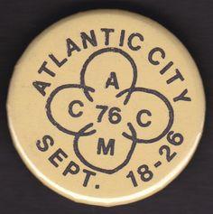 1976 AMCC ATLANTIC City MOTORCYCLE COUNCIL Gay Club Interest Pinback Pin Button