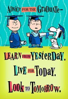 Peanuts® Good Advice Graduation Card - Greeting Cards - Hallmark