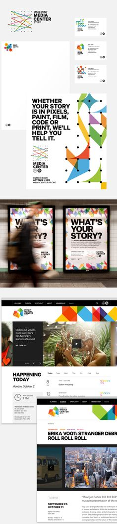 Branding for Independent Film Project NY Media Center by Area17