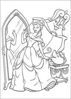 Beauty and the beast. Princess coloring pages, when I need a stress relief!