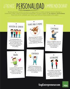 ¿Tienes personalidad emprendedora? #infografia #infographic #entrepreneurship