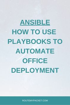 Ansible: Use Playbook to deploy the next office - Route My Packet Juniper Networks, Variables, Templates, Simple, Create, Stencils, Vorlage, Models
