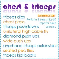 Chest and Triceps Circuit