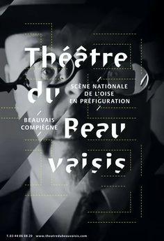 Stagioni teatrali passate in un poster psichedelico e monocromatico. L'autore è Lézard Graphique. #poster #posterdesign