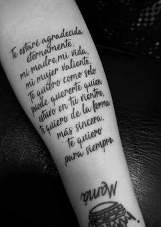 Mamá Tattoo Mama, Mom Dad Tattoos, Baby Tattoos, Love Tattoos, Body Art Tattoos, Tatoos, Phrase Tattoos, Tattoo Mutter, Tattoos With Meaning