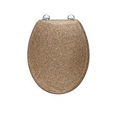 gold glitter toilet seat. I prefer GOLD  Croydex Gold tone Glitter Toilet Seat Showers Fittings Pin by Aja Amontea on fun Pinterest Apartments and House