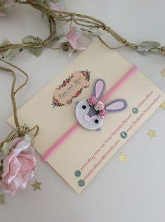 Easter bunny headband Easter bunny hairband by RosesandBowsShop