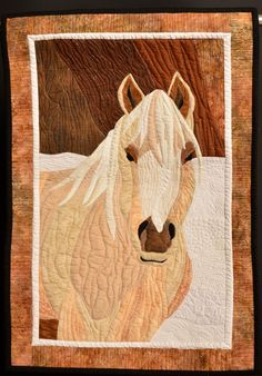 Palomino in the Snow, quilt by Diana L. Beverage.  2013 West Virginia quilt exhibit.