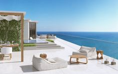 At $9 Million, Fort Lauderdale Condo is Priciest Sale in the County - Mansion Global Outdoor Sofa, Outdoor Spaces, Outdoor Living, Outdoor Furniture Sets, Expensive Houses, Expensive Cars, Condo Decorating, Decorating Ideas, Waterfront Homes