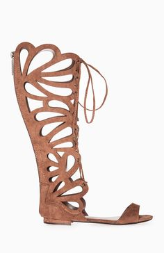 713c97b44f3d2 Scalloped Gladiator Sandals