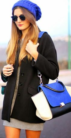 Fashionista: Black and Blue Style