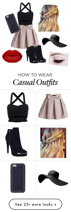 """""""Casual day"""" by fashionsecret1 on Polyvore featuring Chicwish, Hervé Léger, Tory Burch and Winky Lux"""