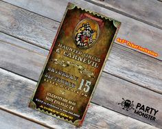 Circus Halloween Invitation Carnival by PartyMonsterStuff on Etsy