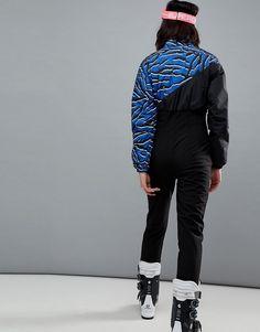 0014f66cd05 4505 SKI Jumpsuit In Zebra Print With Funnel Neck Detail