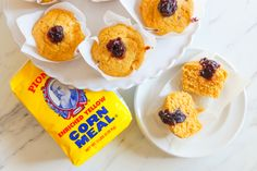 Cornmeal Muffins with Blackberry Jam