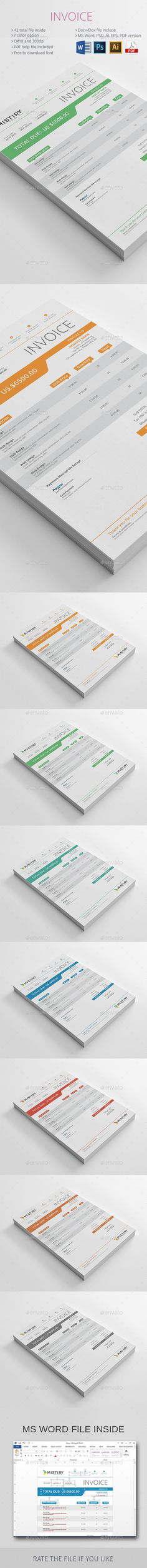 Invoices Template PSD #design Download: http://graphicriver.net/item/invoices/13827600?ref=ksioks