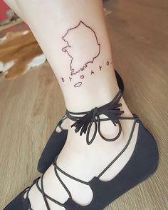 항상 #tattoo #southkorea #korea #map #contours #passion