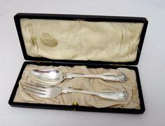 Francis Howard Silverplate Fork & Spoon Youth Set - Antique - Sheffield with Box #francishowardsheffield