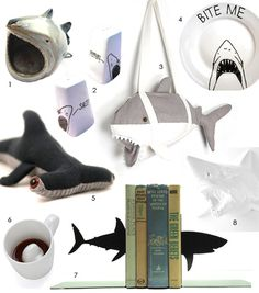 For #Shark Week: shark items for the #home