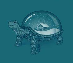 Snow Globe Turtle