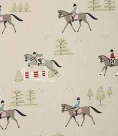 Save on our Multi Horses Contemporary Fabric from Sophie Allport; perfect for creating Curtains & Blinds. Equestrian Bedroom, Equestrian Decor, Horse Bedroom Decor, Horse Background, Horse Fabric, Midnight Cowboy, Horse Wallpaper, Contemporary Fabric, Horse Print