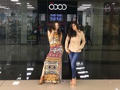 Con la modelo Shella Cooper y Daniela Balarezo.  Look Coco Studio Moda