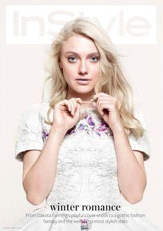 Dakota Fanning = InStyle UK December 2012.