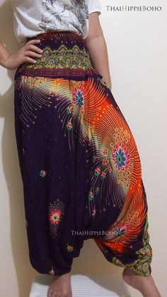 Hey, I found this really awesome Etsy listing at http://www.etsy.com/listing/161279918/boho-blossoms-thai-harem-pants-bohemian