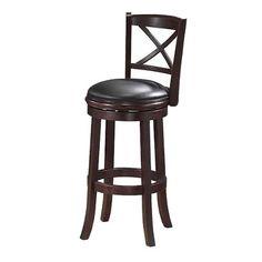 georgia swivel stool cappuccino finish