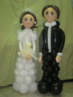 bride and groom baloon art - Cerca con Google