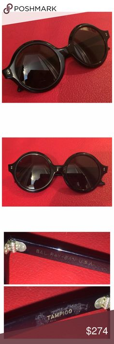 """Rare Vintage Ray-Ban 1960's sunglasses, Tampico Vintage Ray-Bans   Rarely seen 1960's style.   They might or might not be Deadstock. They appear to be but I have no proof (no tags, no owner history) so I will not use that term.  I also use the term """"Rare"""" very sparingly and take it seriously. I wouldn't write it if it weren't true :)  Cannot find any flaws.   Circular lenses //Very thick plastic frame   RX Quality   6"""" wide 2.5"""" deep Ray-Ban Accessories Sunglasses"""