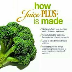 How Juice Plus+ is made.