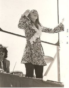 Stevie   ☆♥❤♥☆    performing outdoors with the Fritz Rabyne Memorial Band, August  1969 ~ she's 21 in this photo