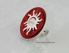 287 Ring rot mit Sonne Nespresso Recycling Alu
