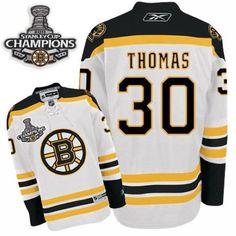 Boston Bruins Tim Thomas 30 White Authentic NHL Jersey Sale