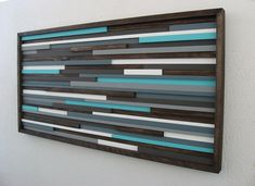 Wood Wall Art Wood Sculpture Home and Living by ModernRusticArt