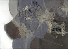 Embroidery and Collage. Mixed Media Textile Art, Textile artist Artist Study Richard McVetis Resources for Art Students , Art School Portfolio Works #CAPI #Textiles