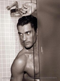 Another picture of David Gandy who to me just screams Christian Grey. Wow!!