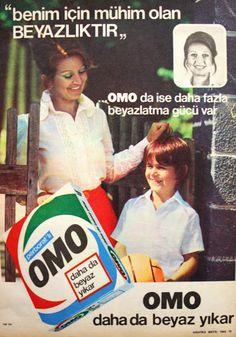 OĞUZ TOPOĞLU : omo daha da beyaz yıkar 1975 nostaljik eski reklam...