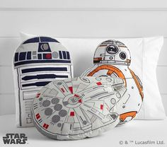 Star Wars™ Shaped Decorative Pillows | Pottery Barn Kids