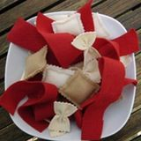"""Completing my trifecta of felt food posts, today I want to point out some free online tutorials to help you make your own. How do I know you can do it? Because I am the sloppy, lazy, """"where's the shortcut?"""" type of sewer so if I can do it, you can probably do it a thousand times better."""