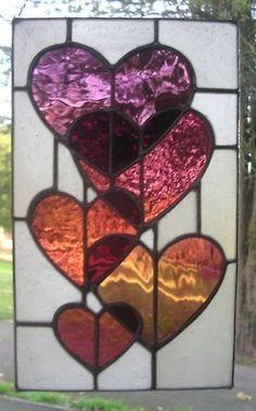 Stained glass heartd window