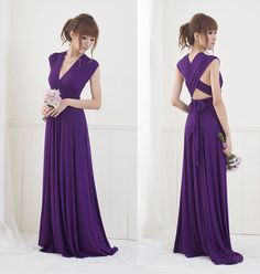 Convertible Infinity Dress Floor Length By Christintina On Etsy Possible Bridesmaid Dresses