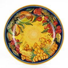 Frutta Classica Italian majolica dinner plate  sc 1 st  Pinterest & Deruta Italian Hand Painted Dinnerware | Dinnerware