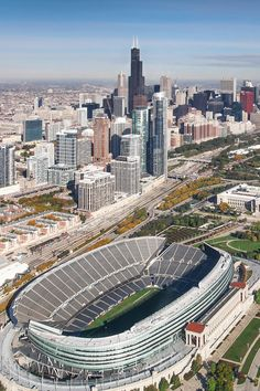Chicago Skyline, Paris Skyline, Chicago City, Chicago Pictures, Nfl Stadiums, Field Museum, Soldier Field, Chicago Photography, City Aesthetic